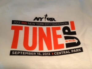 NYRR Central Park 18 mile Tune Up 2013