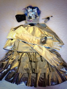 Shiny silver outfit for Marshall