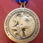 Back of the Marshall Marathon Medal