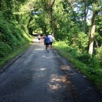 Shady trail Hatfield McCoy Marathon 2014