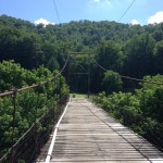 Swinging bridge Hatfield McCoy Marathon 2014