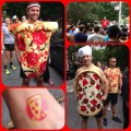 Pizza Run 2014 costumes tattoo start