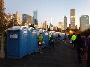 Chicago marathon porta potties