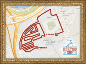 Dreadful ugly sweater run course map citifield