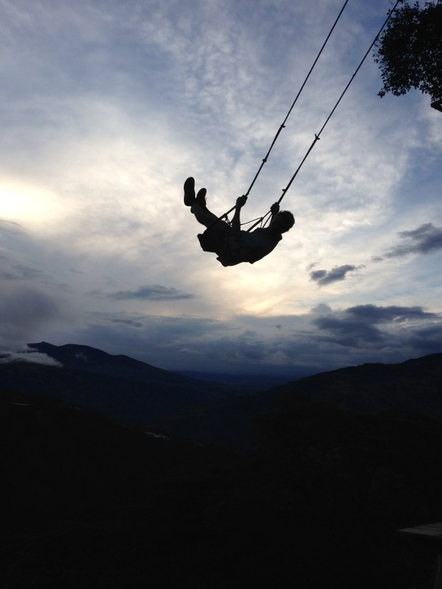 The Swing at the End of the World in Banos, Ecuador.