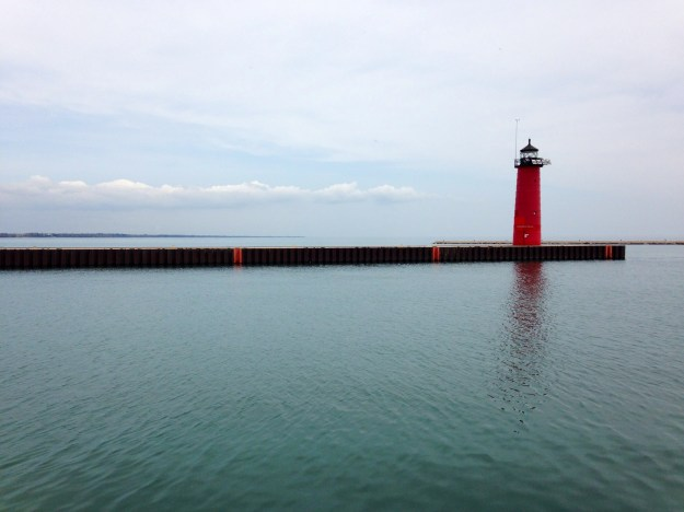 Lighthouse near marathon start in Kenosha, Wisconsin.