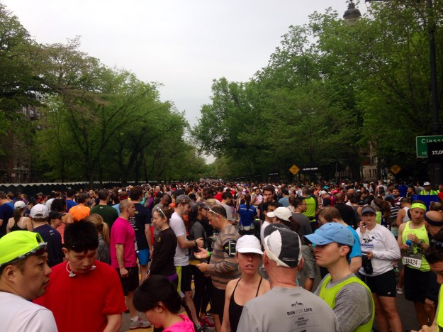 The start of the Brooklyn Half Marathon is somewhere up there, to the left.