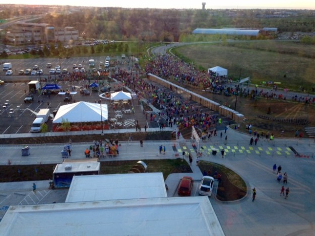 View of the Garmin Oz Marathon start from the hotel.