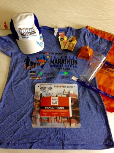 All the Delaware Marathon swag!