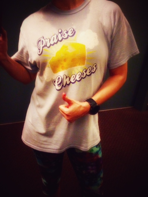 I'm thankful for cheese and running.