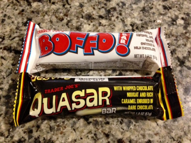 Boffo! and Quasar, from Trader Joe's.