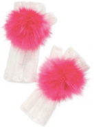 betsey johnson pom pom gloves