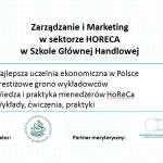 Nowy rok akademicki   Nowe gastro-kierunki