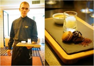 Wybór deserów/: Karmelowy custard z solonym masłem | Granita z szampana i gruszek | Tylko czekolada