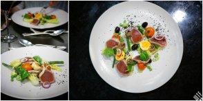 Le Victoria Brasserie Moderne   Wiosenna Niçoise– kompozycja zielonych warzyw, grilowana polędwica tuńczyka, cytrusowy dressing