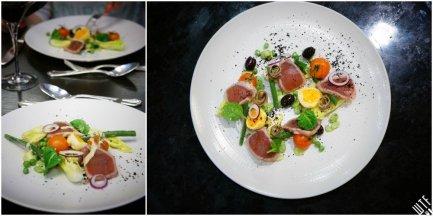 Le Victoria Brasserie Moderne | Wiosenna Niçoise– kompozycja zielonych warzyw, grilowana polędwica tuńczyka, cytrusowy dressing