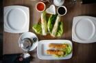 NEM WEGETARIAŃSKIE BATATY, TOFU, czy sajgonki smażone - makaron sojowy, grzybki mun, kiełki oraz SPRING ROLLS TOFU I BATATY, świeżo zawijane - makaron bun, zioła, sałata