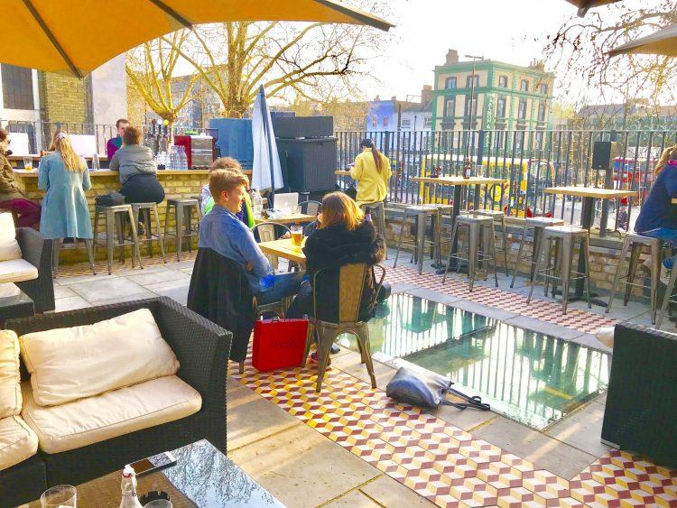 Bethnal Green rooftop bar beach vibes