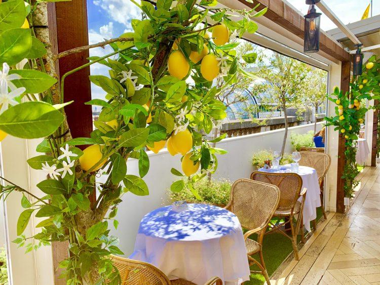 Selfridges rooftop restaurant in Bond Street London  - a taste of Italy