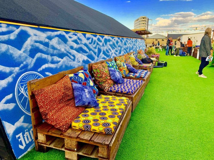Dalston Rooftop bar sofas