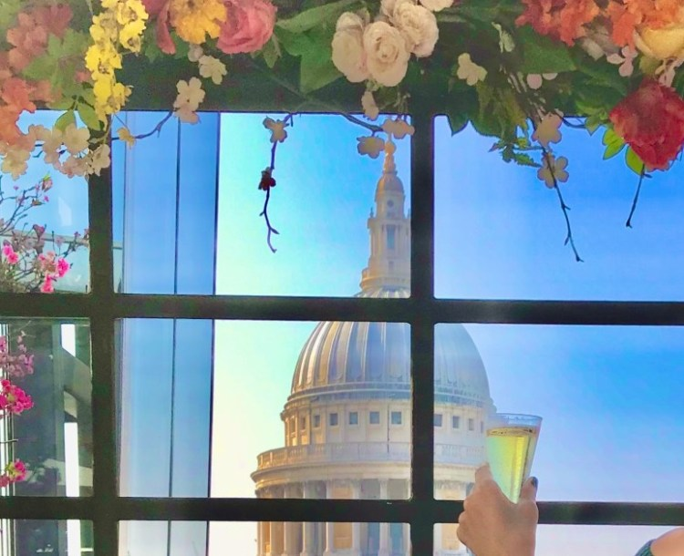 Views of St Paul's flowers rooftop bar