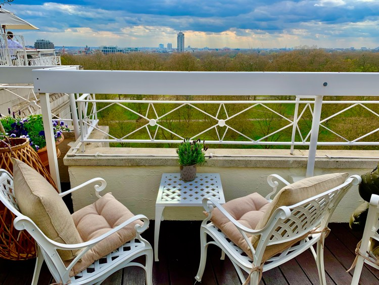 Rooftop lounge at the Dorchester