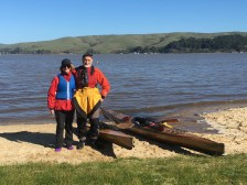 Ready to launch from Heart's Desire Beach on Tomales Bay