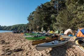 Our camp on Marshall Beach.