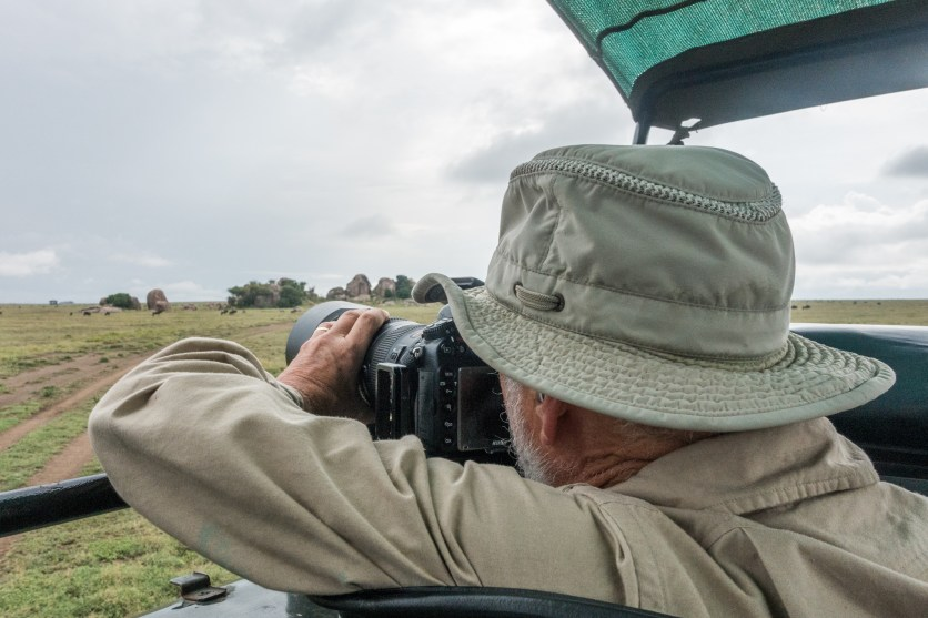 Treve with his camera shooting out the top of Land Cruiser.