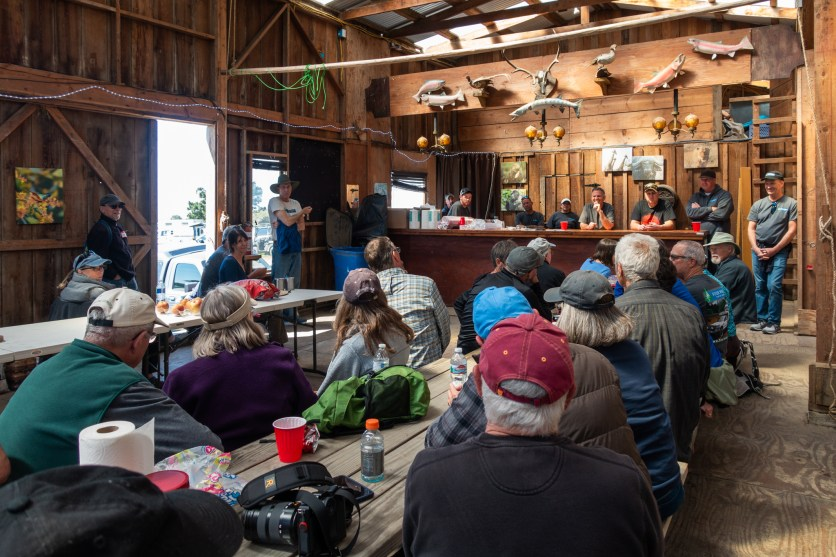 Q & A session with Four Wheel Camper staff and camper owners at the Rally at Chanslor Ranch. Bodega Bay.