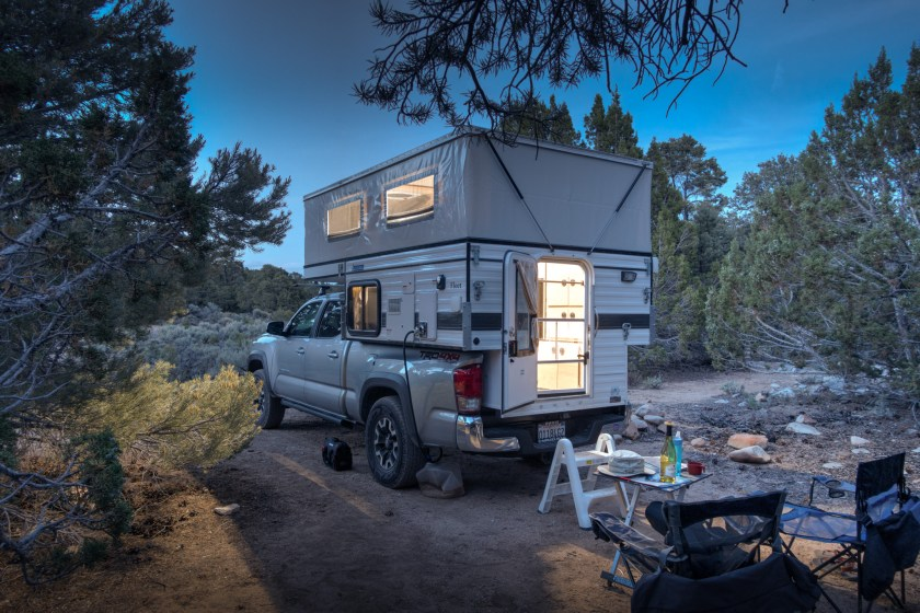 Our camp near Great Basin National Park