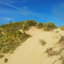Sand dunes at Holywell Beach, Cornwall