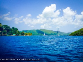 The view from our home in West End, Tortola