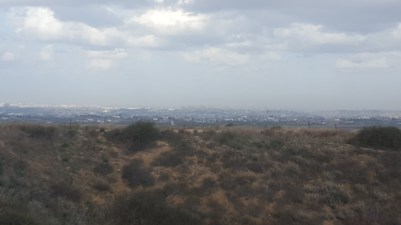 The view of Gaza from the overlook