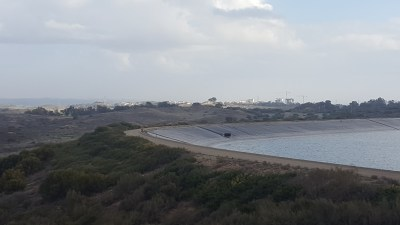 The view of Sderot from the overlook