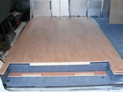 Ply sheet on floor