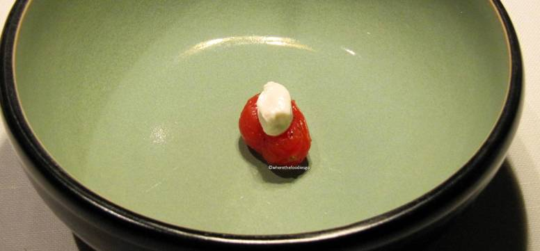 Pomodorino, panna al lampone