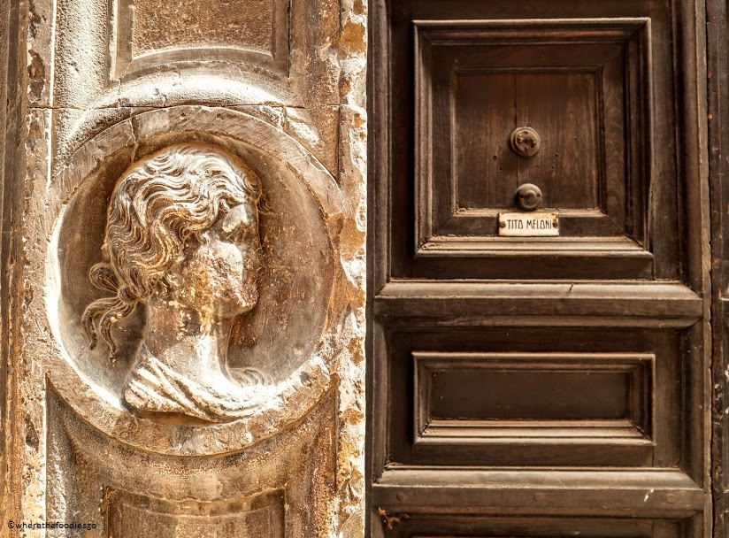 A doorway in Trevi, Umbria