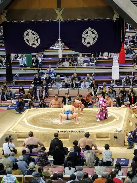torneo di sumo al Fukuoka Kokusai Centre