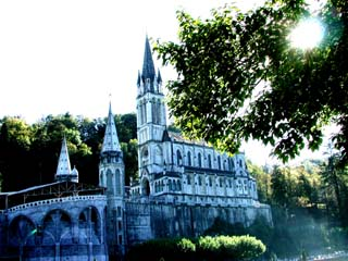 The Cathedral at Lourdes….