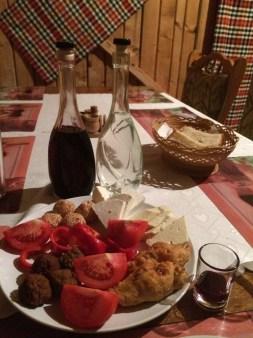 Dinner at Pensiunea Teodora Teleptean