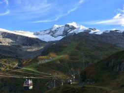 Looking up towards the Hintertux glacier from Sommerbergalm, the base of Gletscherbus 2 at 2100 meters. Summer 2016