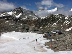 The base of the Gletscher Jet lift, Mölltaler Gletscher, August 2016