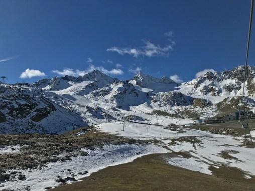 View of the Stubai Gletscher from near the top of the Gamsgarten II gondola, 2620 meters, October 2016
