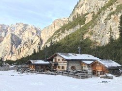 Mountain hut on the Armentarola trail