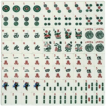 silver mardi gras american mah jongg tiles