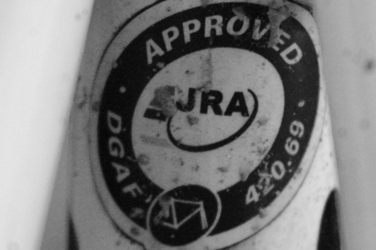 Just Riding Along (JRA) Badge