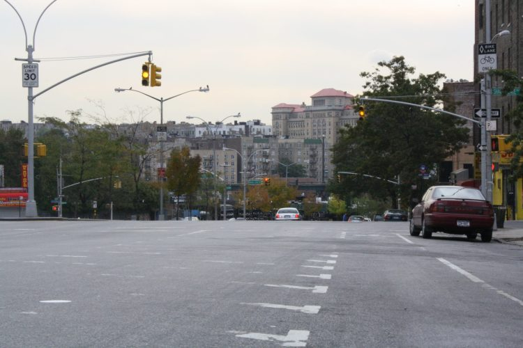 Looking east at Jerome Avenue and Grand Concourse