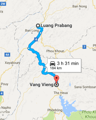 Vang Vieng to Luang Prabang