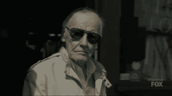 Stan Lee making a short cameo in The Gifted